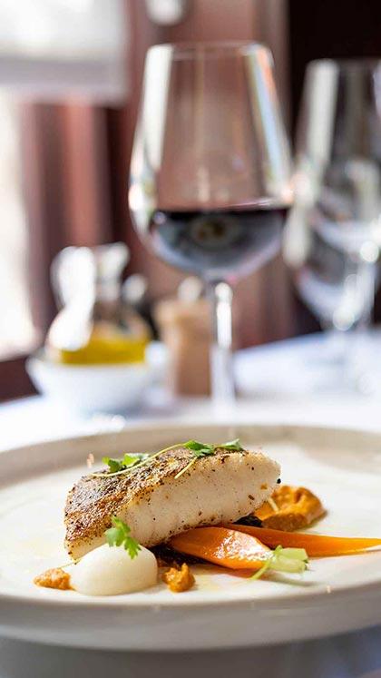 Plated fish dish